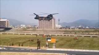 CH-47チヌークの離陸です。