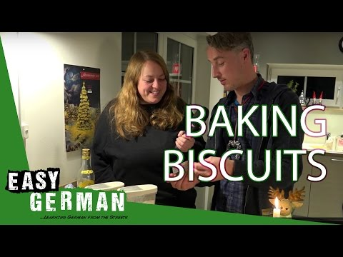 Baking German Christmas Biscuits | Easy German 172