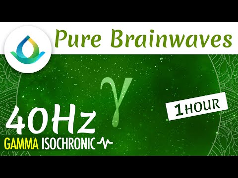 Pure Gamma Waves (40 Hz) | Improve Focus & Learning ◑ 1hr Isochronic Tones ❁ Gaia Meditation
