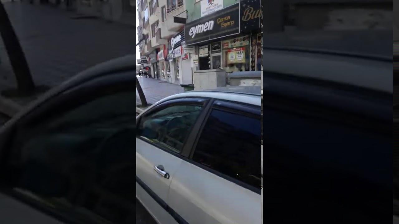 Bafra da Caddeler ve Sokaklar Boş