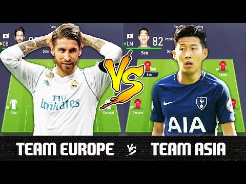 Team Europe VS Team Asia - FIFA 18 Experiment