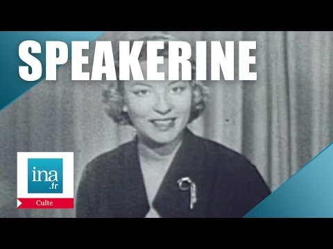 Speakerine 1956 Jacqueline Caurat | Archive INA