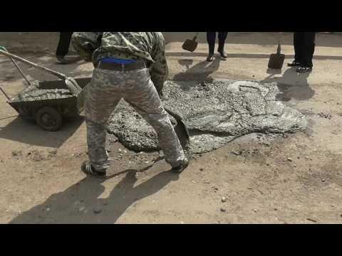 Жители наплевали на власти г. Энгельс и сами отремонтировали дорогу