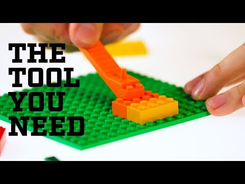 LEGO Brick Separator with Axle Tool Orange New Style Parts Plate Remover