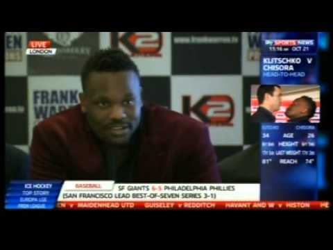 Wladimir Klitschko vs Derek Chisora UK Press Conference