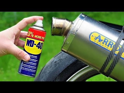 EXPERIMENT WD-40 IN MOTORCYCLE EXHAUST