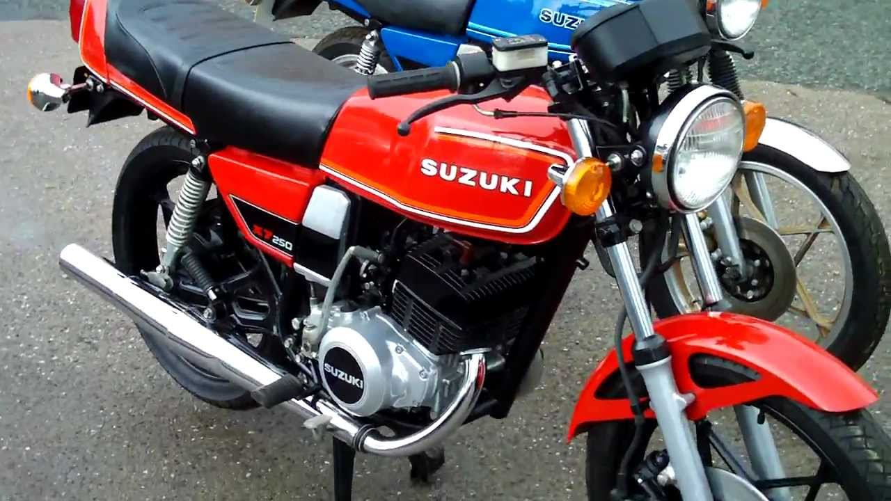 2 Stroke GT 250 Suzuki X7 Twin 4 Cylinders Revving Noise - YouTube