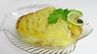 Картофельный пирог с лососем видео рецепт