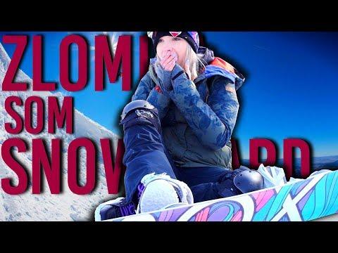 ZLOMILA SOM SNOWBOARD! :(
