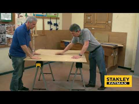 Stanley FatMax Metal Sawhorse Trestle Twin Pack From S&TD