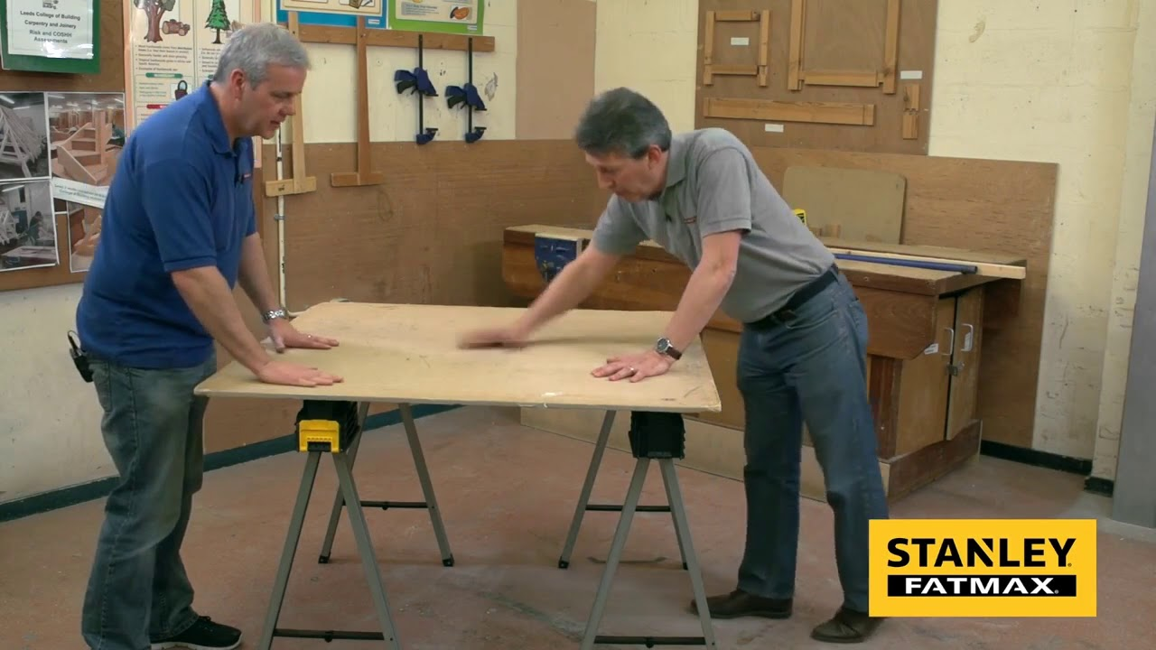 Stanley Fatmax Metal Sawhorse Trestle Twin Pack From S Td Youtube