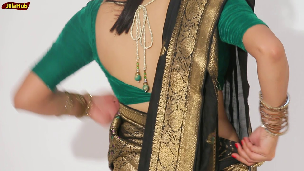 1faa2f05755fed Modern Look In Gujrati Style Saree Drape | How To Wear Gujarati Saree For  Wedding & Party | Jiialhub