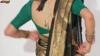 Modern Look In Gujrati Style Saree Drape | How To Wear Gujarati Saree For Wedding & Party | Jiialhub