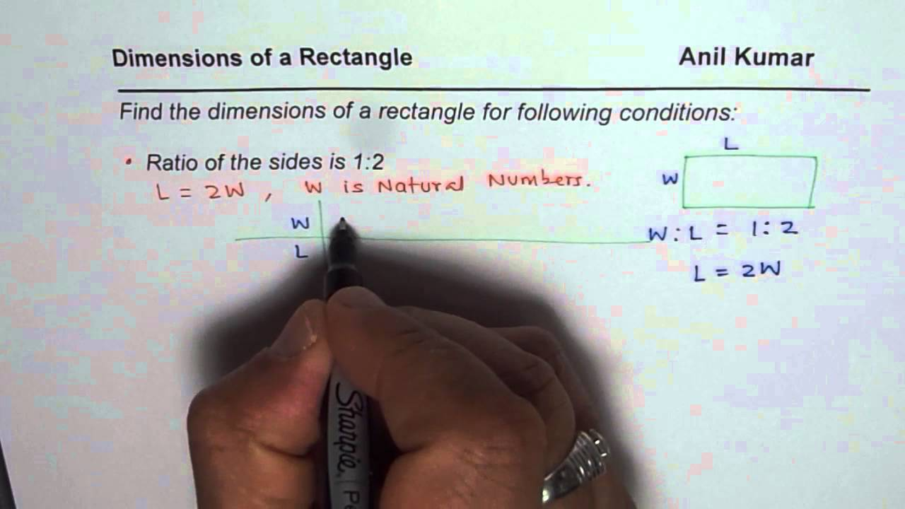 Find Dimensions Of A Rectangle With Given Ratio Of Sides Along With  Perimeter Of Area
