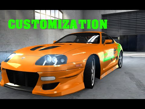 Toyota Supra 2016 >> Toyota Supra Fast and Furious Paul Walker Customization Body kit - Nitro Nation - YouTube