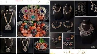 Latest Artificial Jewellary designs||Oxidized Silver Jewellery 2019 By Maanvi's