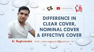 Nominal Cover|Effective Cover|Clear Cover|Civil Engineering| Er. Raghvendra