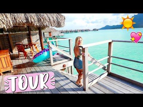 Download Youtube: Bora Bora Overwater Bungalow Room Tour!!