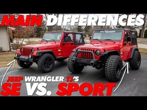 Jeep TJ SE vs. Sport Main Differences