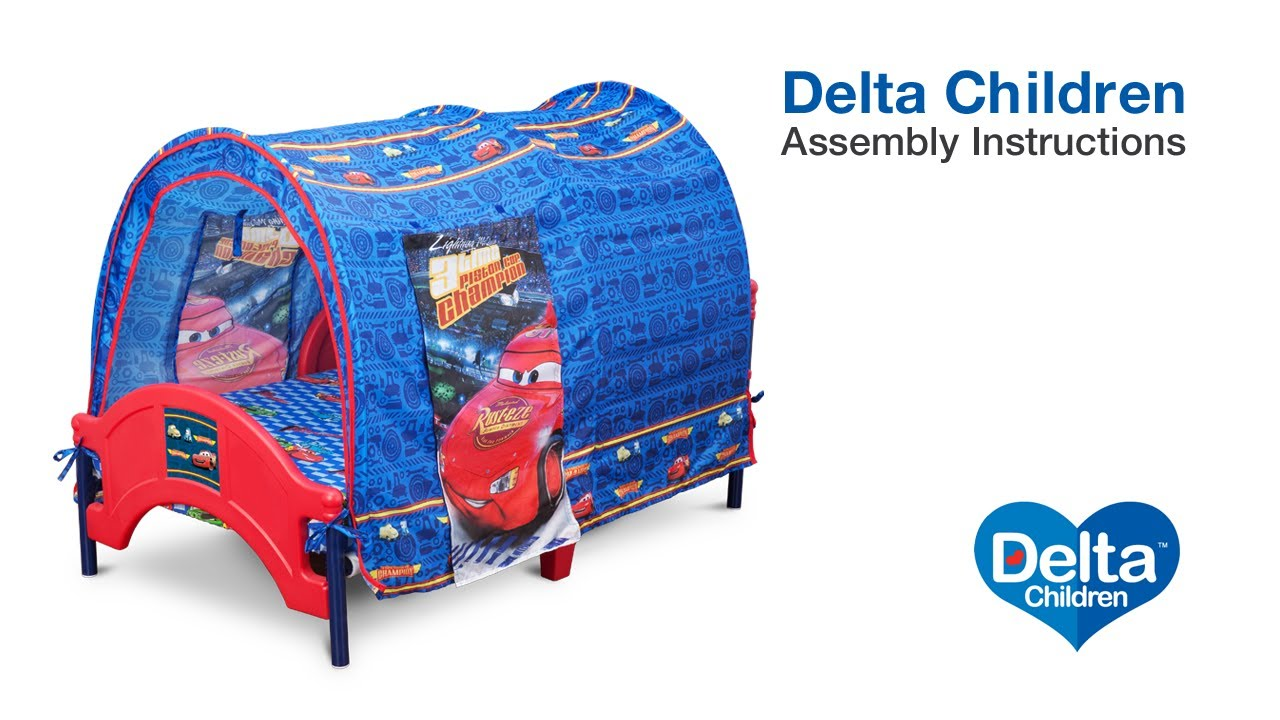 Delta Children Tent Bed Assembly Video  sc 1 st  YouTube & Delta Children Tent Bed Assembly Video - YouTube