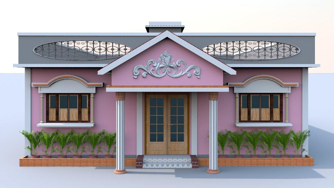 5 bedroom village house desgin | 32×43 indianstyle village home plans with 5 bedroom