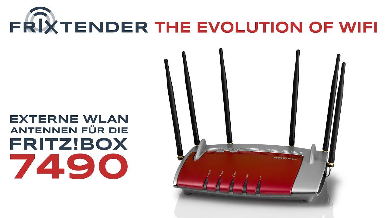 Fritz Box 7490 Mit Externen Wlan Antennen Nachrusten Frixtender X3 X6 Antennensets Youtube