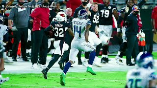 Patrick Peterson's Hilarious Reaction to DK Metcalf Chasing Down Budda Baker | The Rich Eisen Show