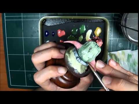How to Paint Troll bust figure by Man-Jin, Kim - Part 4