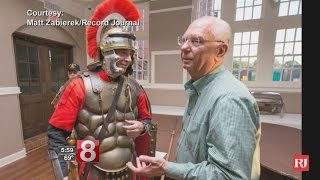 Dressed as Roman Centurion, longtime mayor announces for 18th term