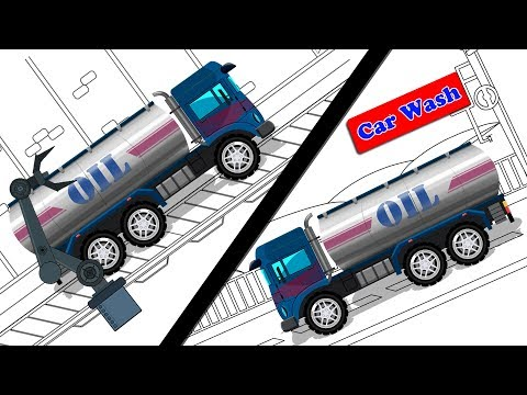 Oil Tanker | Car Garage | Car Wash | Street Vehicle | Game for Kids & Toddlers