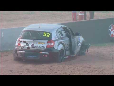 Combined Sedans 2017. Race 2 Mount Panorama Motor Racing Circuit Bathurst. Crash