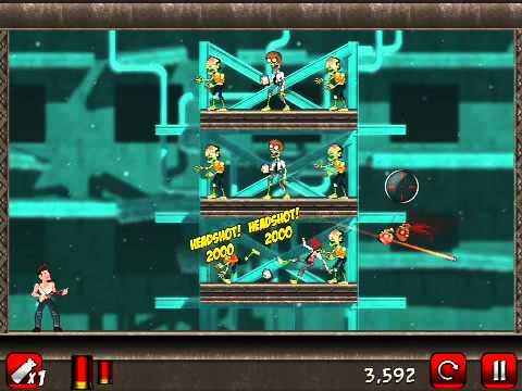 Stupid Zombies 2 Walkthrough LAB Levels 1-10 GAMEPLAY (iPhone,iPod,iPad)