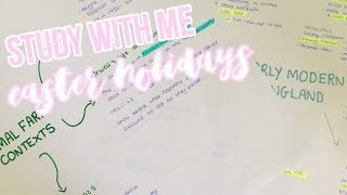 STUDY WITH ME #2 - EASTER HOLIDAYS GCSE REVISION|Sophia