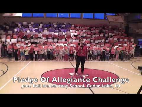 Pledge Of Allegiance Challenge - Jane Ball Elementary School, Cedar Lake, IN