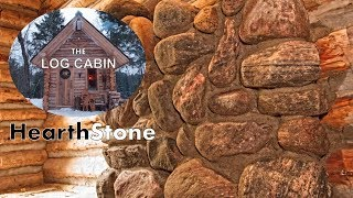 Build a Stone Hearth for the Off Grid Log Cabin with My Dog | Woodstove Maintenance