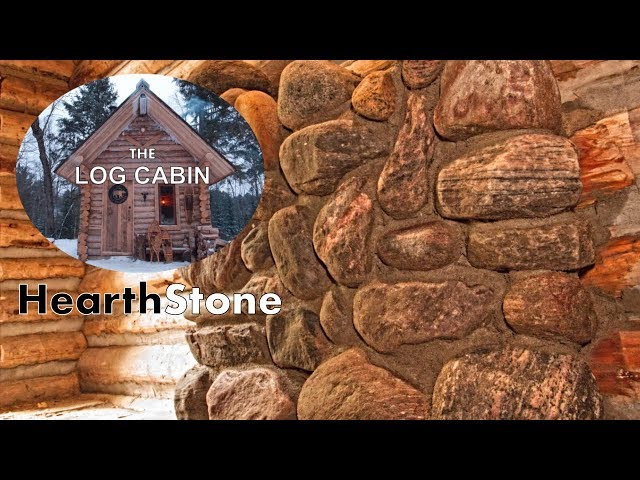 Build a Stone Hearth for the Off Grid Log Cabin with My Dog   Woodstove Maintenance
