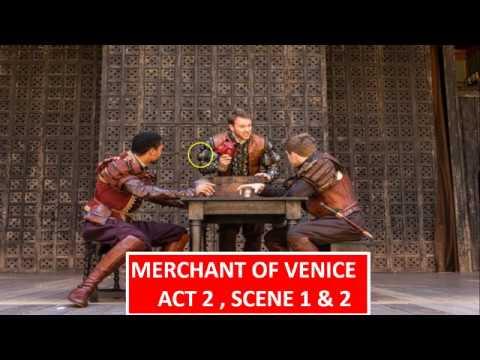 Merchant of Venice - Act 2 , Scene 1 & 2