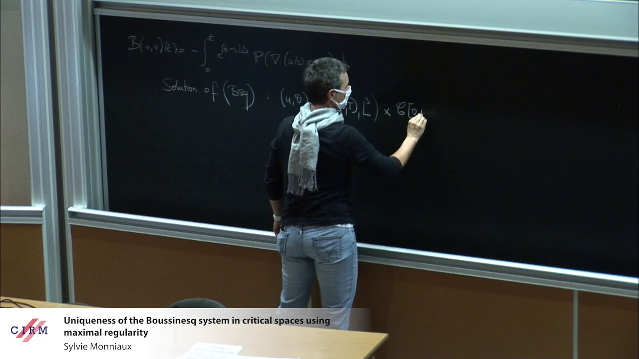 Sylvie Monniaux: Uniqueness of the Boussinesq system in critical spaces using maximal regularity