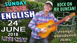 LIVE ENGLISH LESSON - NEW WORDS - 24th June 2018 - Improve your listening - FOOTBALL IDIOMS