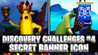 SECRET BANNER ICON! Week 4 Discovery Challenges (Fortnite Season 8)