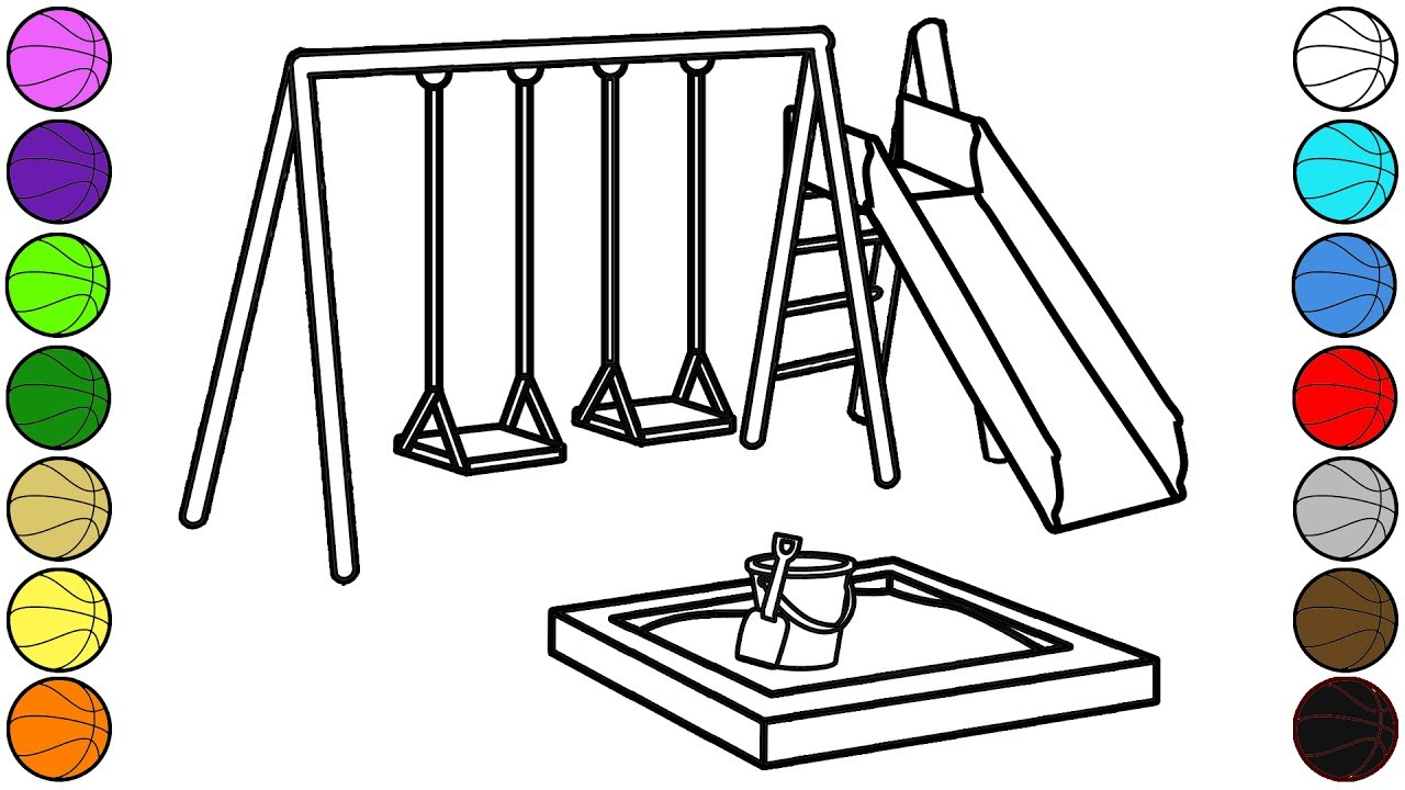 playground coloring pages # 2