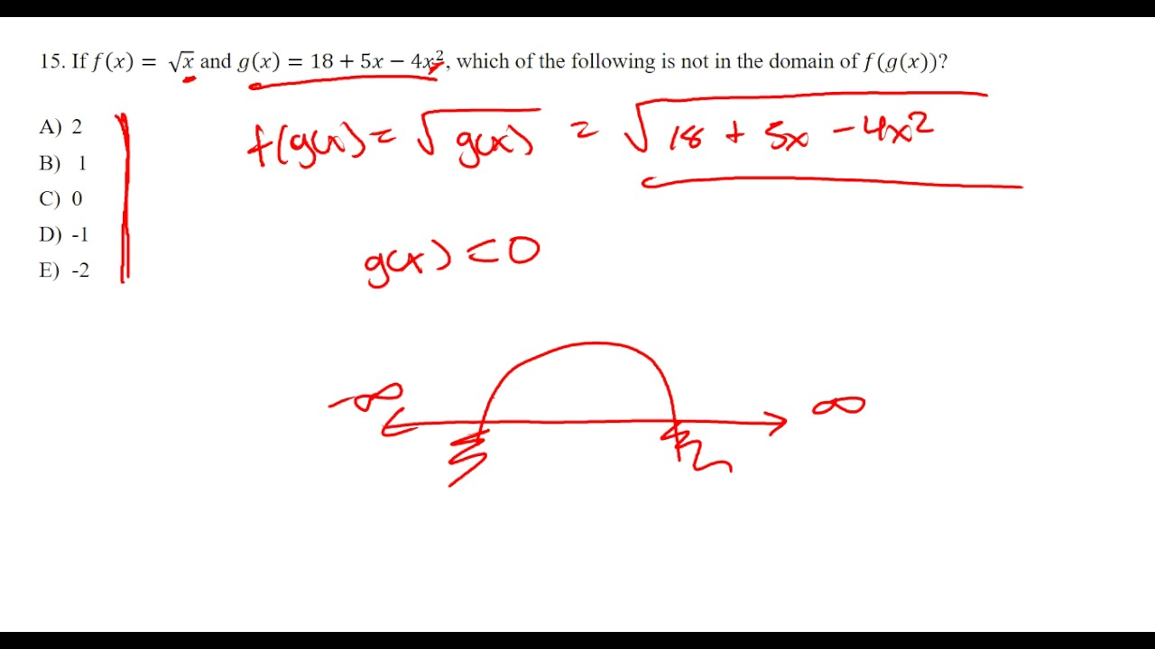 SAT 2 Math Practice Test Question 15
