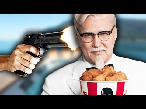 SHOOT COLONEL SANDERS? | Hitman Funny Moments