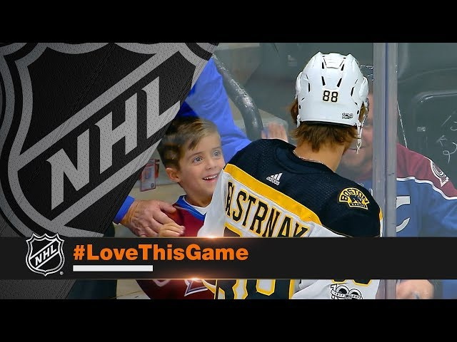 Pastrnak makes young fans night with fun interaction