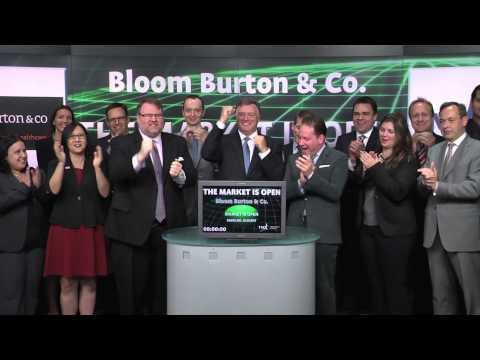 Bloom Burton & Co. opens Toronto Stock Exchange, June 19, 2014.