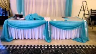 Оформление свадьбы, ткань, воздушные шары, кафе Малевка