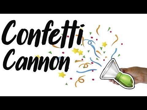 how to make a confetti cannon