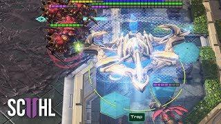 CRAZY OFFENSIVE RECALL! - Starcraft 2: Trap vs. Reynor