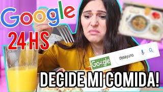 I let GOOGLE Pick My FOOD for 24 HOURS!