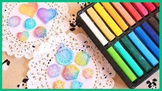 How to Color Shrink Plastic (Shrinky Dinks) with Chalk Pastels [Collab ft. PolymomoTea]